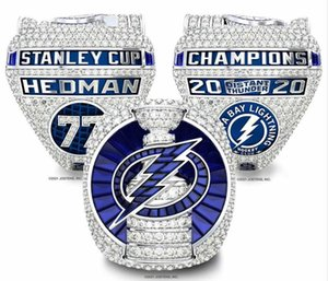 2021 wholesale 2020 tampa Championship Stanley Cup Ring Church Men's Rings Brotherhood Ring Fan Gift wholesale Drop Shipping size 8-14