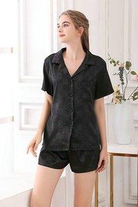 2 Stücke / Satz Womens Nachtwäsche Roben Satin Spitze Top Sexy Pyjamas Anzüge Mujer Pyjamas Für Frauen Nachthemd Weibliche Schlaf Lounge