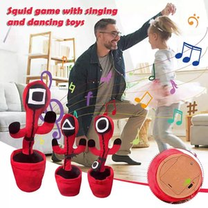New Squid Game Cactus Plush Writhe Doll favors Speak Sound Record Toy Dance Music Twist Kids DHL