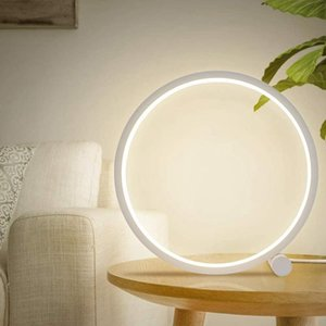 Table Lamp Nightstand Desk Lamps Round Study Night Lights For Bedroom Living Kids Room Decorative-ABUX