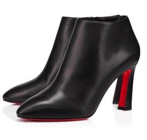 الشتاء الشهيرة ماركة eleonor التمهيد العجل أحذية أعلى جودة أسود جلد طبيعي مكتنزة الكاحل الجوارب الحمراء الوحيد القتالية غنيمة حزب الزفاف eu35-43
