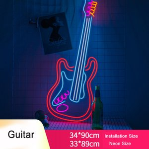 Custom Guitar LED Neon Sign Light Flex Neon HandMade Beer Bar Shop Logo Pub Store Club Nightclub