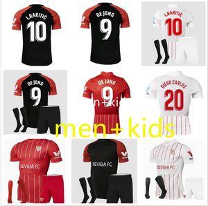 Sevilha 21-22 Sevilha Home Futebol Jerseys 21 22 Ocampos Navas sempre Banega de Jong El Haddadi Torres Rakítico Vazquez Kounge 3rd Camisa de Futebol Homens + Kids Kit
