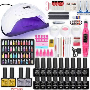 Drill Machine Manicure Set and Dryer 12 18 Colors Gel Polish Kit with Nails Art Decorations Electric nail kit