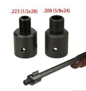 Алюминиевый Ruger 1022 10/22 морда тормозной адаптер 1 / 2x28 5 / 8x24 .750 Зацепление протектор потоков Combo .223 .308