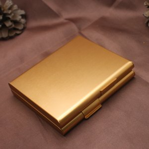 Aluminium Alloy 20 Cigarettes Box Metal Cigarette Storage Tobacco Case Container Cigarette Holder Smoking Gift 4 colors 443 R2