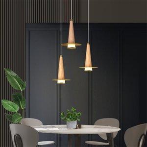 Pendant Lamps Golden Pointed Top Hat Lights Nordic Copper Log Bar Restaurant Living Room Bedroom Art Deco