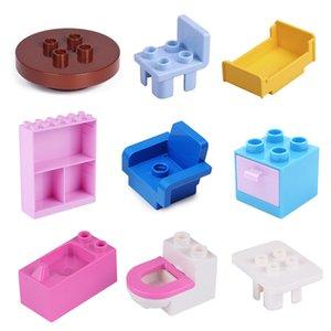Строительный блок столовый стул Cradle аксессуары ванная комната домашняя меблировка украшения кирпича игровые дома девушки игрушки для детей подарок