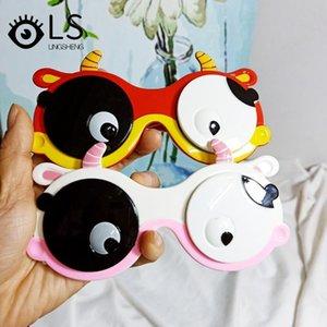 Kawaii Kids Солнцезащитные очки Детский мультфильм Flip Polarized Cow Fashion Boys и Girls Silicone YJ181