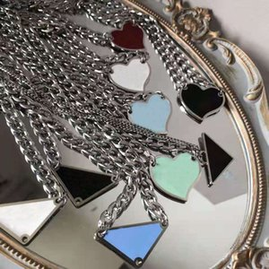 2021 luxurys Pendant Necklaces Fashion for Man Woman 48cm Inverted triangle designers brand Jewelry mens womens Highly Quality 19 Model Necklace