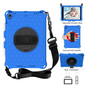 Tablet Case EVA Foam Soft Shockproof For iPad Mini 4 5 Air 9.7 10.2 11 Samsung Tab T290 T307 T500 Huawei M6 8.4 MediaPadT5 amzon HD 8 10 Kids Children Handle Stand with strap