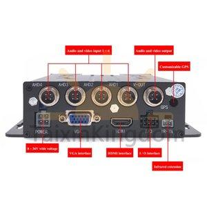 PAL 4CH SD Card Vehicle Video Recorder Truck School Bus Black Box Driving Record Mdvr Car Dvr DVRs