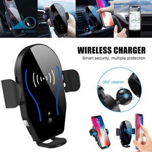 Car Air Vent Automatic Clamping Clip Phone Holder Wireless Charging Mount Bracket Charger For Smartphone QJY99 Cell Mounts & Holders
