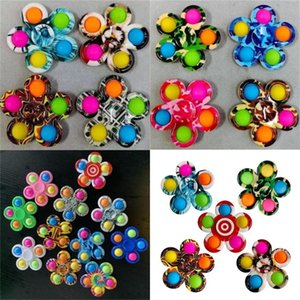 DHL Push Gift Sets Simple Dimple Fidget Toys Plus 5 Sides Finger Play Game Anti Stress Spinner Colorful 559 B3