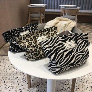 Small Makeup Bags Lightweight Animal Leopard   Zebra Print Cosmetic Organizer Zipper Handbag For Women & Cases