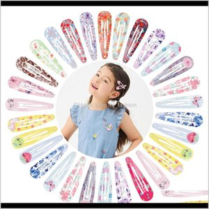 & Jewelry Drop Delivery 2021 Girls Printing Snap Clips For Children Baby Hair Aessories Women Barrettes Clip Pins Bb Flower Hairpins Hairgrip