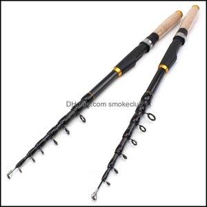 Boat Sports & Outdoorsboat Fishing Rods 1.8M 2.1M 2.4M 2.7M 3.0M 3.6M Carbon Fiber Rod Super Short Pocket Portable Spinning Pole Drop Delive