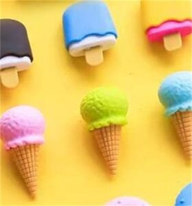 4pcs 맛있는 디저트 지우개 세트 미니 롤리팝 아이스크림 아이스크림 도너츠 고무 연필 지우개 아이 학교 학생 수상 193 V2