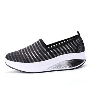 Casual Breathable Loafers Women Outdoor Platform Shoes Girl Sneakers Mesh Flats Wedges Shoes Slip on Tenis Mujer