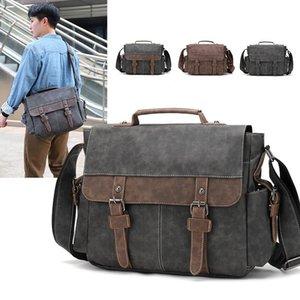 Male Briefcases Man Men Briefcase Shoulder Crossbody Messenger Bags Handbag Handbags Hand Bag Drop Business Portfolio