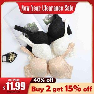 Women's Full Coverage Embroidered Balconette Bra Lightly Padded Underwire Plus Size C D DD E F L0320 L0320