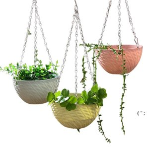 Garden Supplies 3 Point Gardening Plant Flower Pot Basket Hanging Chain with Hooks OWB6789