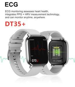 Fitness Tracker DT35 Plus Smart Watch 1,75 pollici Full Screen IP67 Impermeabile ECG Bracciale BLUETOOTH Bluetooth Temperatura della frequenza cardiaca