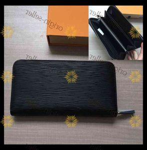 Wholesale 8 colors fashion single zipper men women leather wallet lady ladies long purse with orange box card free delivery LB