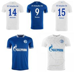 Jogador Versão 2021 Huntelaar Jerseys de futebol Kutucu 20 21 Serdar FC Schalke 04 Harit Homens Camisa de Futebol Ozan Away Branco Jersey