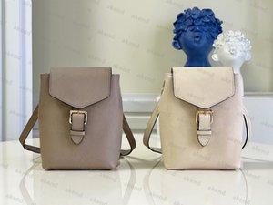 High quality Genuine Leather designer luxury Backpacks TINY Handbag Bag Shoulder Bags Black Letter Embossing Fashion Zipper Travelling Backpack M80738 M80596
