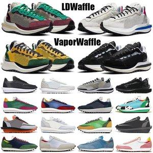 sacai ldv outdoor ldv waffle vaporwaffle daybreak scarpe da corsa uomo donna triple nero bianco nylon verde pino mens scarpe da ginnastica sportive sneakers