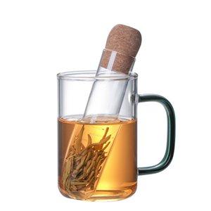 NewUniversal Стеклянный Чай Ситечко Чаю Инфузер Творческий Трубопровод ИНТЕРИВНЫЕ ИНСТРУМЕНТЫ Многоразовый фильтр для кружки Причудливые Свободные чаи листья Варринг Herb B3