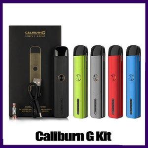 Caliburn G Pod System Kit with 690mAh Built-in Battery 2ml Top-Fill Cartridge 15W MTL DTL Vape Pen Kit