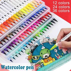 Double-headed Watercolor Pen Kit with Soft-tip & Needle Tip RB 210902