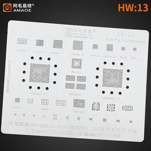 Cell Phone Repairing Tools Kirin985 820 Hi6290 Hi6290L 7 7 Pro 7Se Honor 30 30s X10 POWER PM IC CHIP BGA CPU For Nova Reballing Stencil Temp