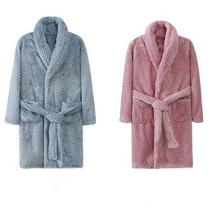 Autumn Winter Kids Sleepwear Robe Boys Flannel Warm Bathrobe Girls 4-18 Years Teenagers Children Pajamas Baby Teen Jacket Coat 210915