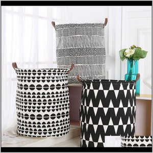 Ins Kids Toys Storage Basket Baskets Foldable Dirty Clothing Bucket Waterproof Bag Polka Dot Cactus 55 Styles Dw2470 D56Ay Boxes Stora Vhdhn