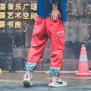 Autumn Men Joggers Fashion Pantaloni Bendaggi Piedi Casual Harem Sweatpants Swag Pantaloni Hip Hop Pantaloni Cargo Bshit