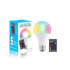 E27 LED Bulb 10W RGB + White 16 Color LED Lamp AC85-265V Changeable RGB Bulb Light With Remote Control + Memory Function In Stock