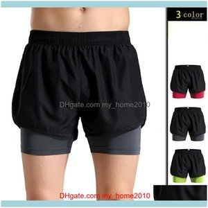 Yoga Outfits Exercise Fitness Wear Athletic Outdoor Apparel Sports & Outdoorsfitness Mens Ultra 2 In 1 Running Shorts With Inner Compression