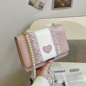 Evening Bags Lace Small Square Bag Lolita One Shoulder Slung Women 2021 Female Soft Girl Student Handbag And Purse Cute