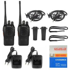 1Pcs Baofeng BF-888S Two-way Radio UHF Handheld 2WaTalkie Equipmen Station Communication Walkie With Headset L7E9 Talkie