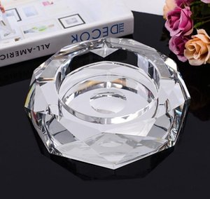 Crystal glass octagonal ashtray creative personality 5 kinds of color fashion exquisite craft home decoration