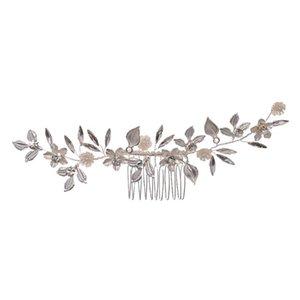Hair Brushes Wedding Bride Elegant Headdress Alloy Accessory Shiny Rhinestone Comb