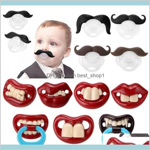 Mustache Baby Pacifier Food Grade Silicone Funny Pacifiers Nipple Teethers Toddler Infant Beard Nipples Kids Matern Wcpd7