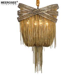 Современная подвесная лампа итальянского кисточка дизайн французской империи цепи бронзовые люстры люстра для гостиной фойе крытое освещение