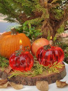 Candles Pumpkin Kerosene Lamp Shaped Glass Decor Spring Seasons Gas Halloween Decoration Mall Ad