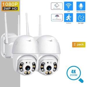 Telecamere 1080P PTZ Telecamera di sicurezza IP Velocità per esterni Dome Wireless Wireless WiFi CCTV Pan Tilt 4xzoom IR Esterno