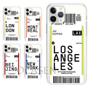 Bilet Yatılı Geçiş Yumuşak TPU Telefon Kılıfları iPhone 12 11 Pro Max XR XS X 8 7 6 Artı Ultra İnce Anti-Güz Koruyucu Kapak