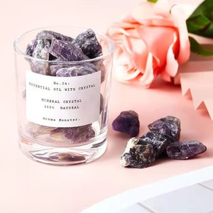 Home Decorative Crystal Stone Essential Oil Aromatherapy Diffuser Healing Natural With Glass Cup